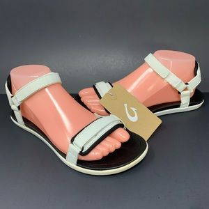 Olukai Luana Ankle Strap Comfy Sandals White